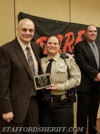 Gene Ayers with Deputy Amanda Crabb