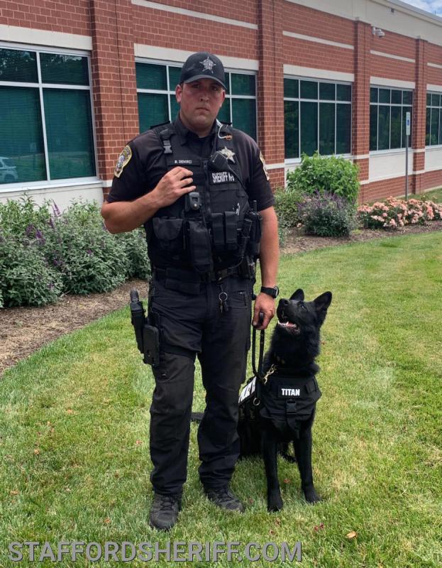 Deputy B.U. Demirci and K9 Titan